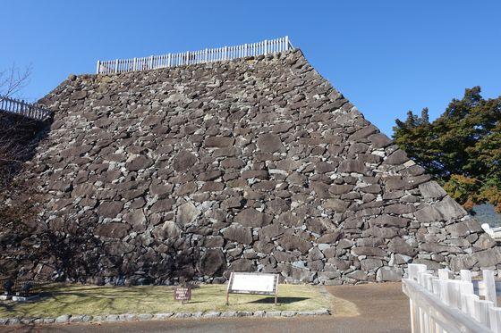 甲府城跡 石垣