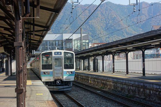塩山ふれあいの森総合公園 電車