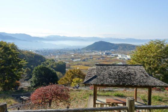 塩山ふれあいの森総合公園 富士見展望台 紅葉