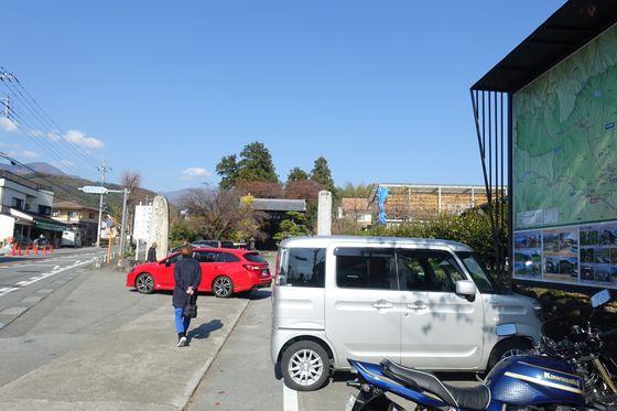恵林寺 駐車場
