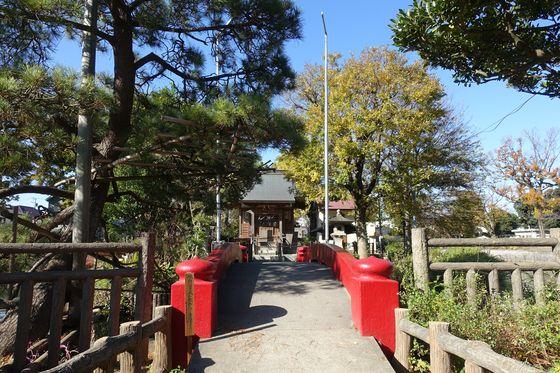 碑文谷厳島神社 紅葉
